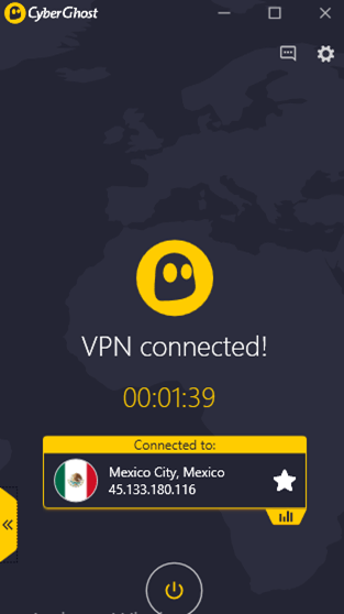 Mexico-VPN-Server-of-CyberGhost-After-Connection